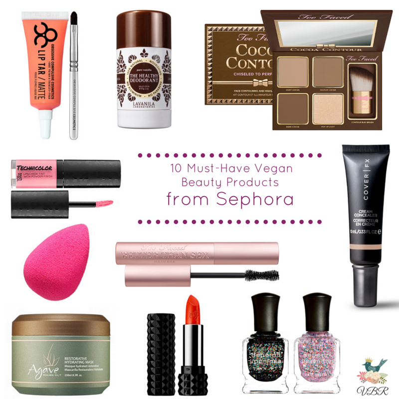 10 Must Have Vegan Beauty Products From